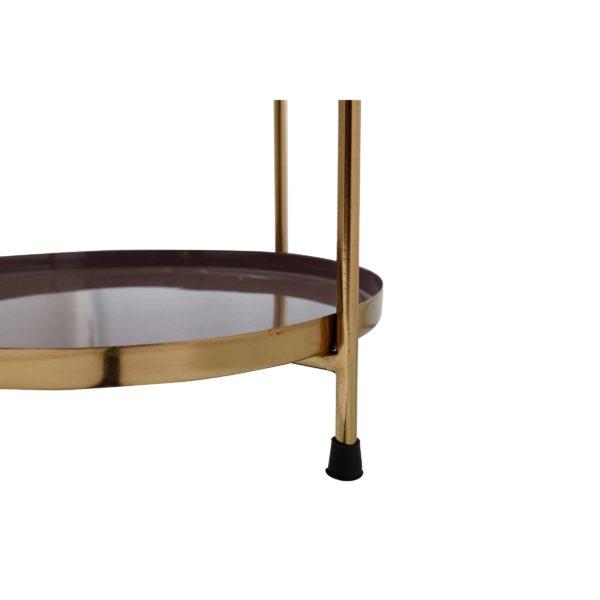 Art Deco bijzettafel Will - Ivoor, Grijs
