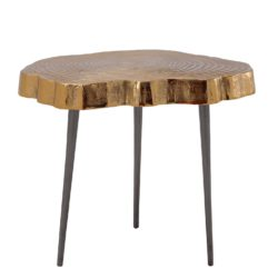 Gouden design bijzettafel boomstam (L)