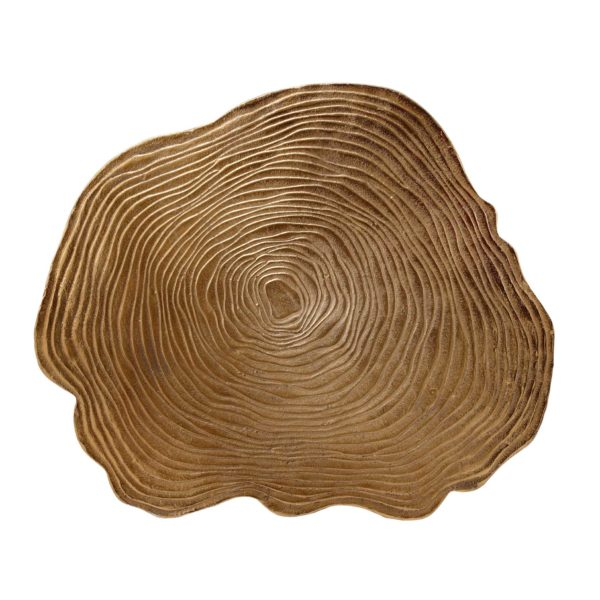 Grote gouden design bijzettafel boomstam (XL)