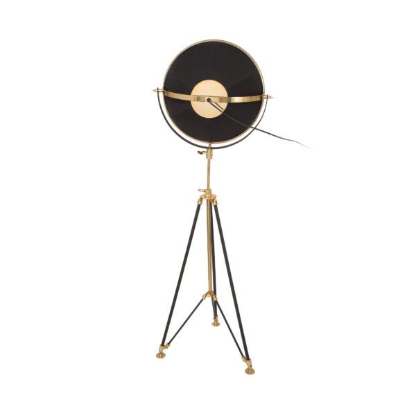 Gouden vloerlamp Rowie met zwart