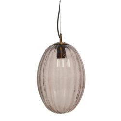 Grijze glazen hanglamp Virgin