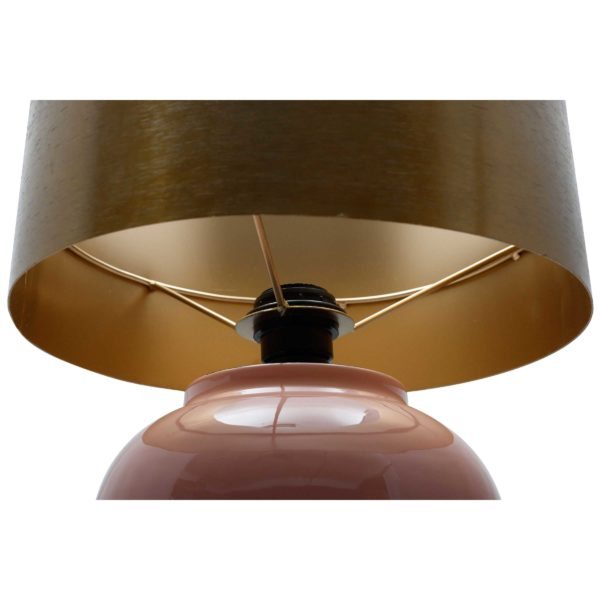 Grote roze tafellamp Art Deco