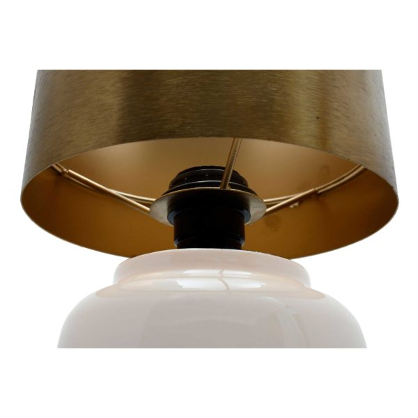 Moderne ivoren tafellamp Arno
