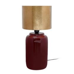 Moderne rode tafellamp Arno