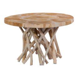 Ronde bijzettafel van hout Roots Naturel