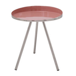 Roze ronde bijzettafel Morina