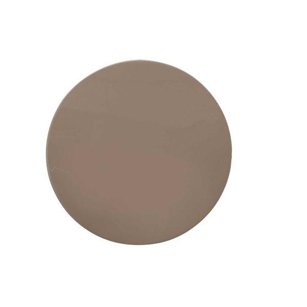 Taupe ronde metalen bijzettafel Ory met goud
