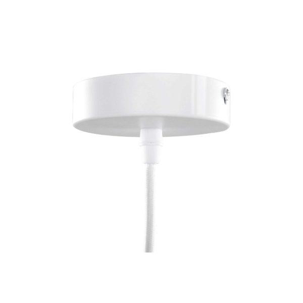 Witte hanglamp Luminus met goud