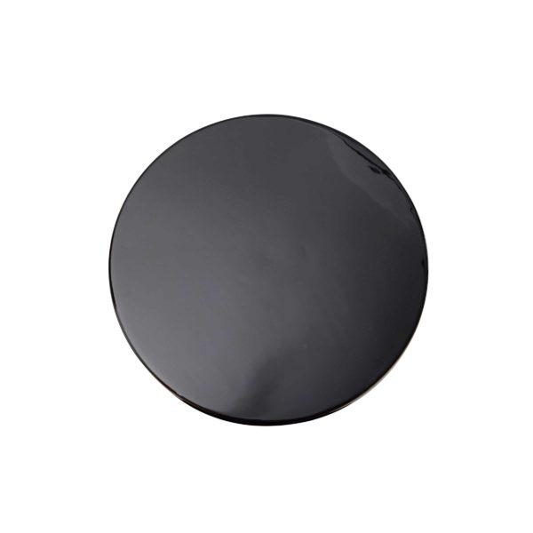 Zwarte ronde metalen bijzettafel Ory met goud
