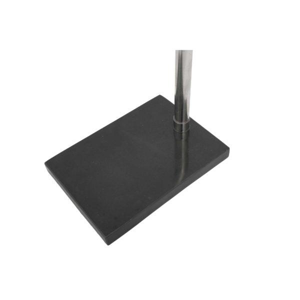 Zwarte vloerlamp Cilia met zilver