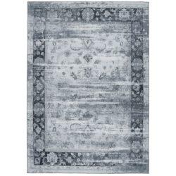 Grijsblauw vintage vloerkleed