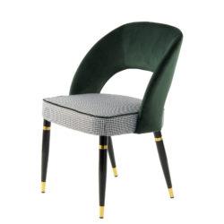 Groene-design-eetkamerstoelen-Goud