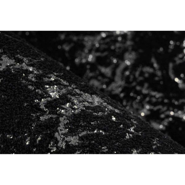 Luxe-zwart-met-zilver-vloerkleed
