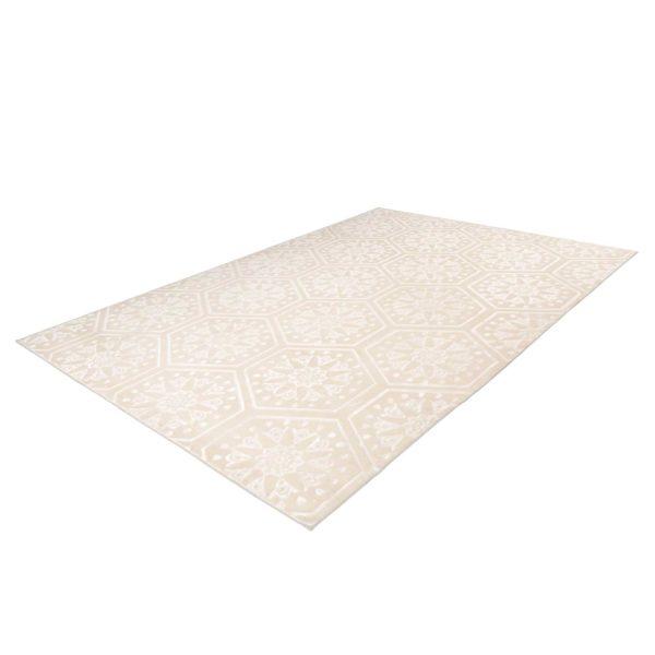 Modern beige vloerkleed