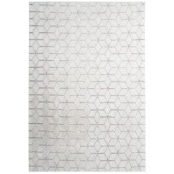 Modern wit vloerkleed met taupe