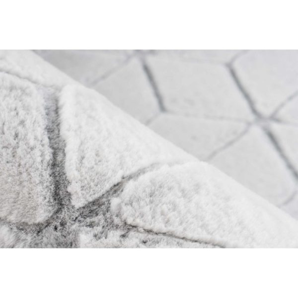 Modern wit vloerkleed antraciet