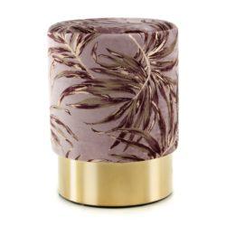 Poef Tropical met paars en goud