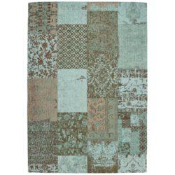 Turqouise patchwork vloerkleed