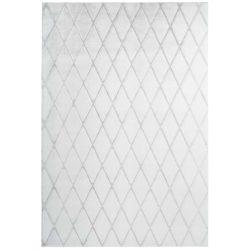 Wit modern tapijt grijsblauw