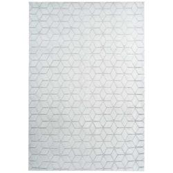 Wit modern vloerkleed Grijsblauw