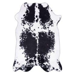 Zwart wit koeienhuid vloerkleed