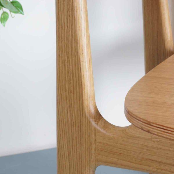 Naturel houten eetkamerstoel College