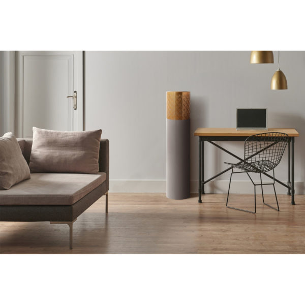 Grijze vloervaas Art Deco 121cm (H)