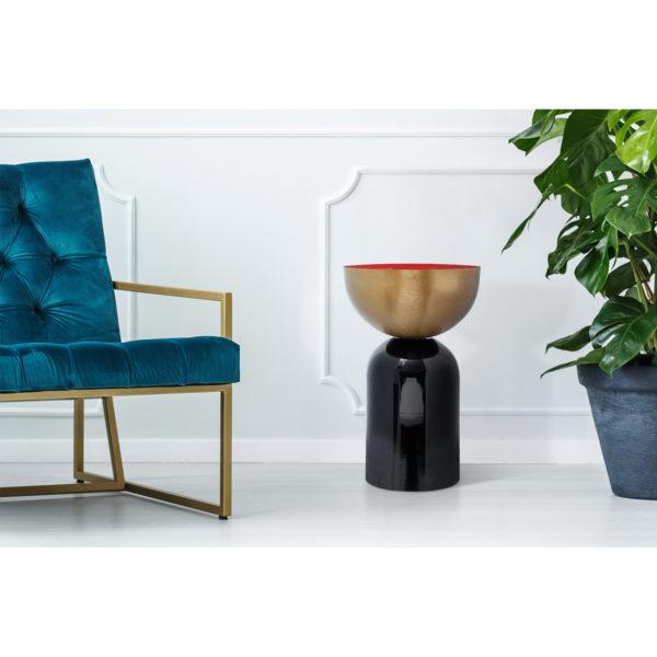 Plantenstandaard Art Deco met goud