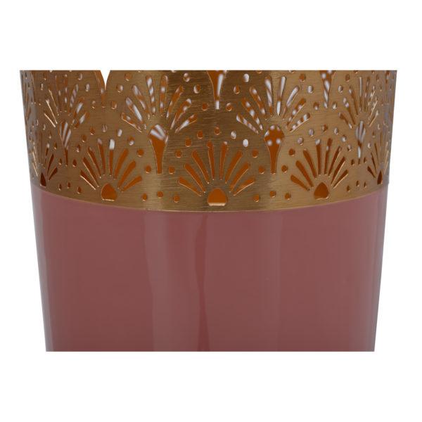 Roze Art Deco vloervaas 60cm (H)
