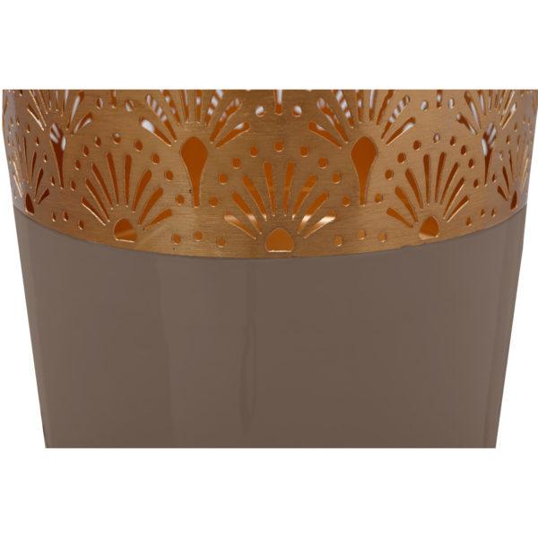 Taupe Art Deco vloervaas met goud 90cm (H)