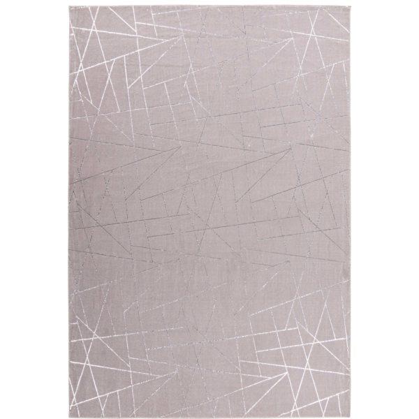 Taupe vloerkleed met zilver