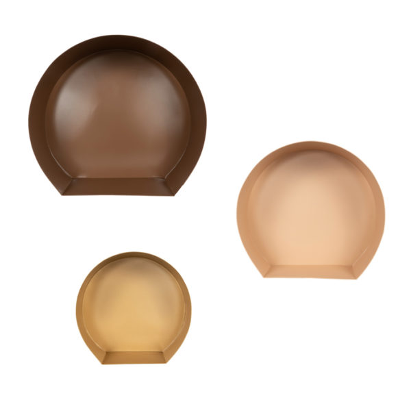 Wanddecoratie Set Trio in bruin, beige, goud