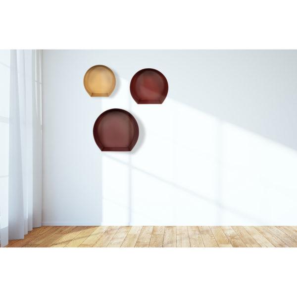 Wanddecoratie Set Trio in rood & goud