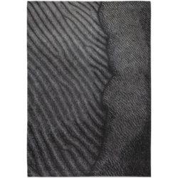 Antraciet design vloerkleed Waves - Louis De Poortere