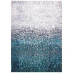 Blauw design vloerkleed Fahrenheit - Louis De Poortere