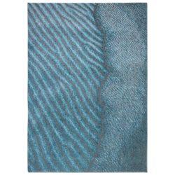 Blauw design vloerkleed Waves - Louis De Poortere