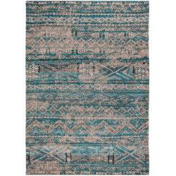 Blauw-vintage-vloerkleed