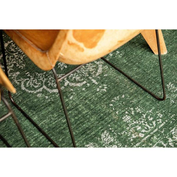 Donkergroen vintage vloerkleed