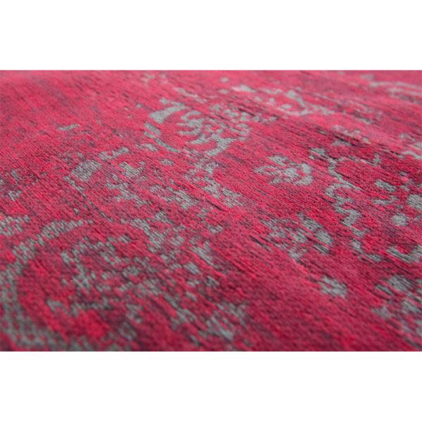 Donkerroze vintage vloerkleed