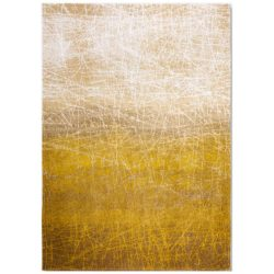 Geel design vloerkleed Fahrenheit - Louis De Poortere