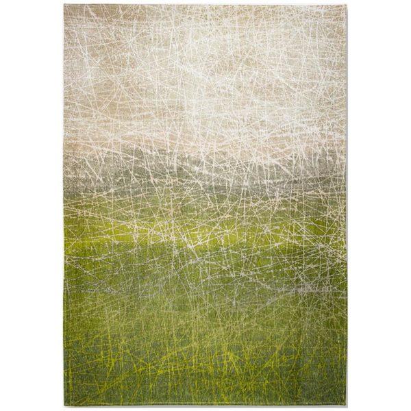 Groen design vloerkleed Fahrenheit - Louis De Poortere