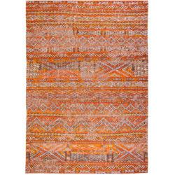 Oranje-vintage-vloerkleed