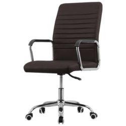 Bruine draaibare bureaustoel Kontor