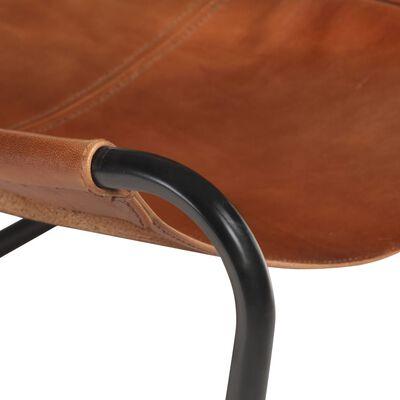 Bruine vintage relaxstoel Vinny