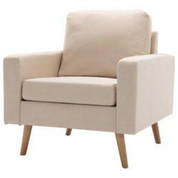 Creme Scandinavische fauteuil Koppla