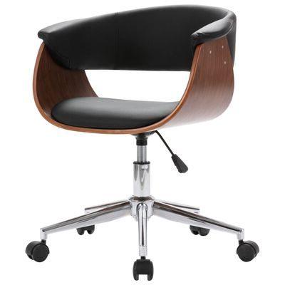 Design bureaustoel met hout en zwart Birou