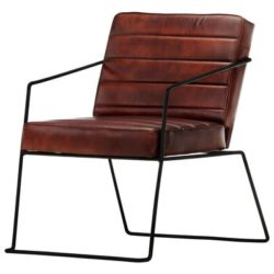 Donkerbruine vintage fauteuil Gio