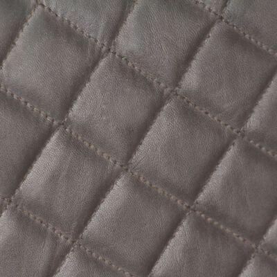Fauteuil Floor van echt grijs leer