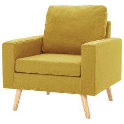 Gele Scandinavische fauteuil Koppla