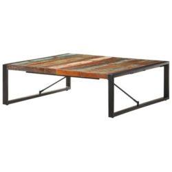 Houten industriele salontafel Esquina 120x120